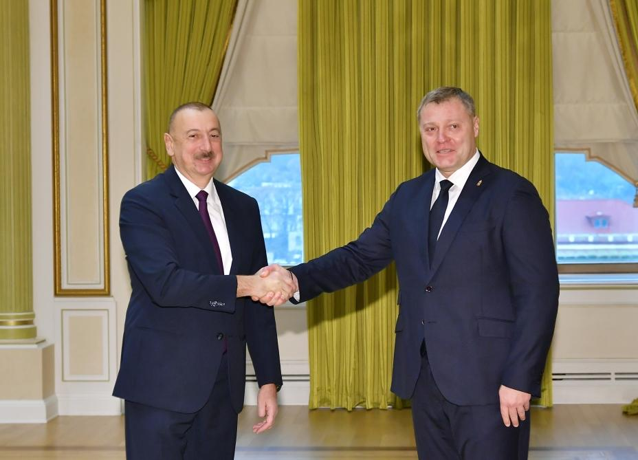 İlham Əliyev qubernator Babuşkini qəbul edib (FOTO)