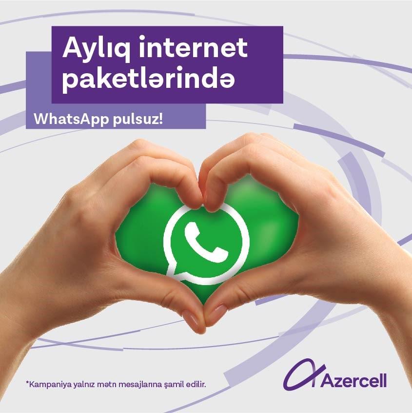 Azercell ilə limitsiz WhatsApp yazışmaları!