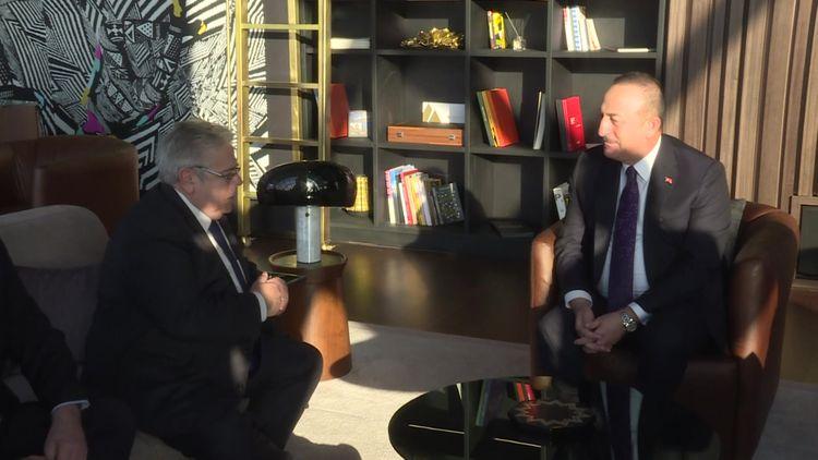 Çavuşoğlu Avropa Parlamentinin Türkiyə üzrə məruzəçisi ilə görüşüb