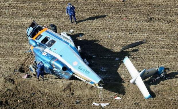 Yaponiyada polis helikopteri qəzaya uğrayıb –