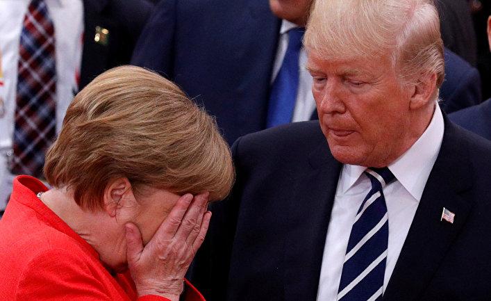 Trampla Merkel Rusiyaya görə mübahisə etdi