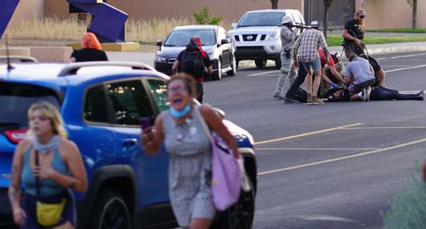 ABŞ-da etiraz zamanı silahlı insident